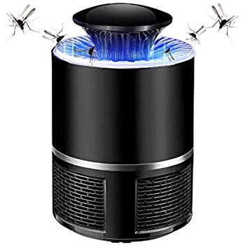 FANXIAOKJ Electronic Mosquito Killer/Bug Zapper, USB Powered Silent Non-toxic UV LED Mosquito Lamp Built in Fan Mosquito Catcher Trap Baby Good Sleep (Black)
