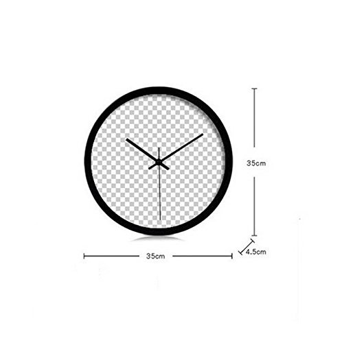 fwerq Wall Clocks creative modern, fish living room Bedroom Meridian Price Mute Health Decoration banners 30/35/40cm (Color A, Size: 35cm) by fwerq (Image #1)