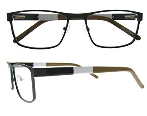 Eyewear Frame Men-OCCI CHIARI-Metal Optical Eyeglasses With Clear Lenses