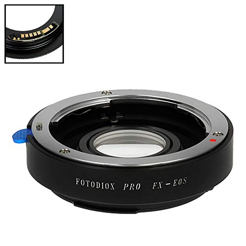 Fotodiox Pro Lens Mount Adapter Compatible with Fuji Fujica X-Mount 35mm (FX35) SLR Lens to Canon EOS (EF, EF-S) Mount D/SLR Camera Body - with Gen10 Focus Confirmation Chip