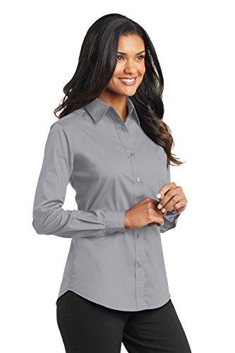Puerto para mujer con mariposa de manga larga para Value camiseta de manga corta popelín gris