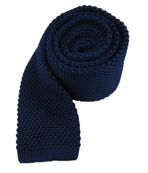 - The Tie Bar 100% Silk Knit Solid Blue 2 3/4 Inch Width Tie