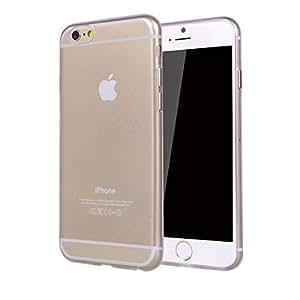 iPhone6 cáscara del teléfono de TPU súper blando sistemas de teléfono móvil ultra-delgadas, (para Mac 6) viene con una película de alta definición (iPhone6 4,7 pulgadas, transparente)
