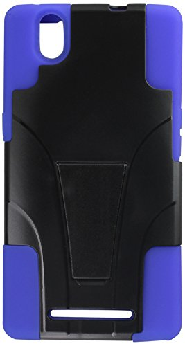 Zizo ZTE ZMax Hybrid PC/SC Combo Cover with Kickstand - Retail Packaging - Blue