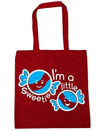 HippoWarehouse I 'm a little Sweetie Tote Compras Bolsa de playa 42cm x38cm, 10litros Classic Red