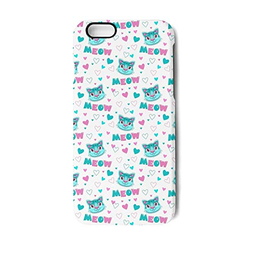 Meow cat Mermaid iPhone 6&iPhone 6s Case,TPU&PC Slim Fit Anti-Scratch Protective Cover Compatible with Apple iPhone 6&iPhone 6s Case(4.7in) -