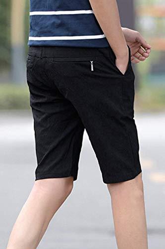 Air Pantalons Couleurs Loisirs 4 Bolawoo Remise Schwarz D'été Forme 77 Respirant 3 Stretch Pantalon Hommes Plein Chic Shorts Serrage Court De Mode Pour Simple Unies Cordon En wYUCq4w