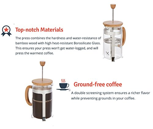 Tea And Coffee Maker French Press Coffee Plunger : Urban Galley French Press Coffee Espresso Tea Maker with Stainless Steel Plunger, Pyrex Glass ...