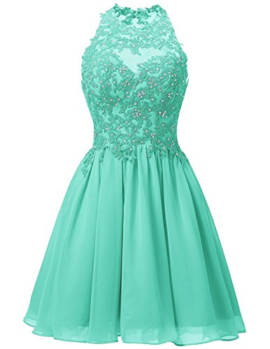 - Cdress Short Homecoming Dresses Junior Prom Cocktail Dress Chiffon Evening Formal Gowns Appliques Bodice US 16W Turquoise