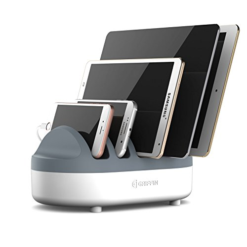 Griffin PowerDock Pro - Multi-Charger Dock Charges 5 USB devices For iPad, iPhone, iPod - Multi-Device Charger and Cord Management by Griffin Technology
