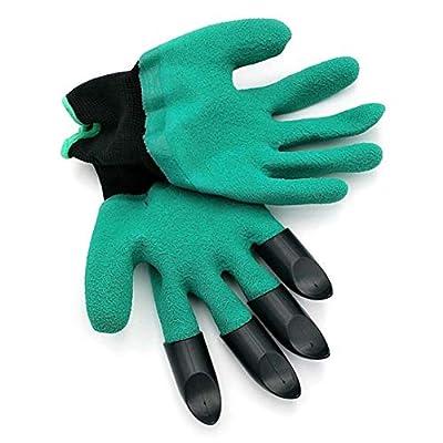 Baynne Safety Work Garden Gloves with Fingertips Planting Gardening Tools Mittens