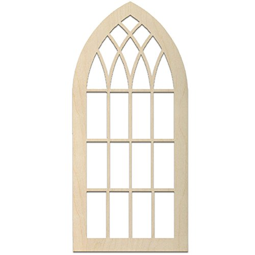 MPI WOOD ARCH1635 Baltic Birch Window Arch 16x35 Plywood, Brown ()