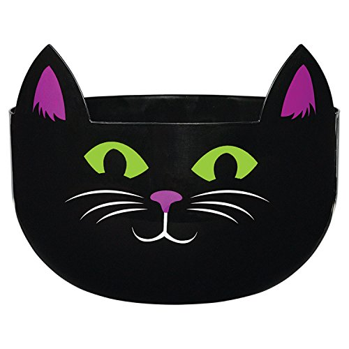 Amscan Halloween Spooky Cat Candy Bowl
