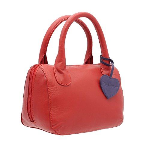 Azul Anishka Colección Rojo Estilo Cielo Cuero De Bolso Leather 774 75 Bolera Mala Tx5q7wPn