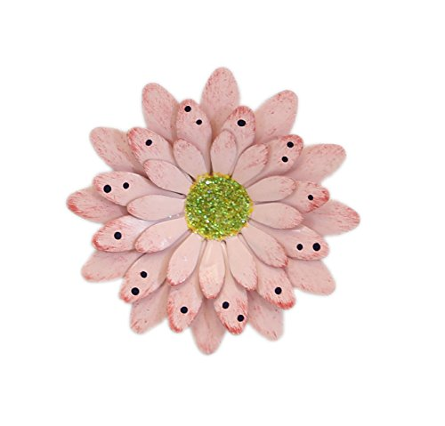 Pink Polkadot Gerbera Daisy Magnet - Set Of 3
