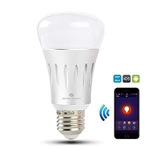 wifi smart led light bulb zerolemon multi color smart bulb compatible with alexa and google. Black Bedroom Furniture Sets. Home Design Ideas