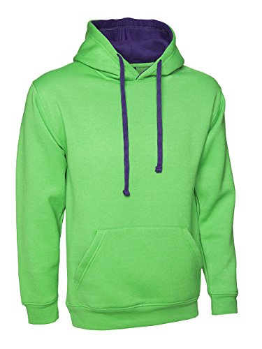 Ample 10 nbsp;à Multicolore Femmes clothing 247 Coupe Purple Premium À Sweat Taille With Contraste Lime 28 Capuche nbsp;plus XHFqqCvnxw