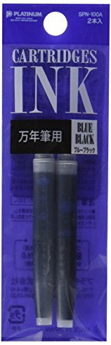 Platinum Refills Blue Black Fountain Pen Cartridge - SPN-100A-3