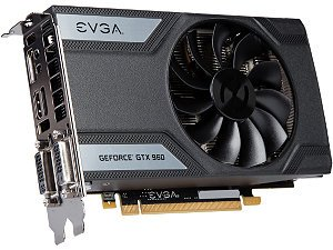 EVGA GeForce GTX 960 04G-P4-1962-KR 4GB SC GAMING, 6.8 Inch
