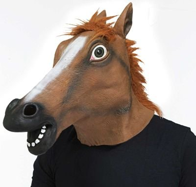 Latex Horse Head Mask ~ Kentucky Derby / Halloween (Horse Mask Price)