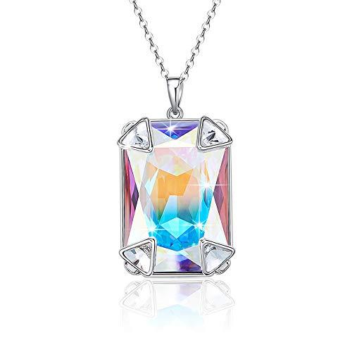 (NEWNOVE ANCREU Pendant Necklace Designed for Women Made with Swarovski Crystal)