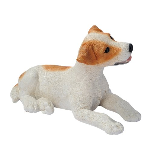 Design Toscano Brown and White Jack Russell Puppy Dog Statue, Multicolored
