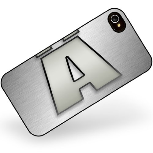 iphone 4 4s Ä characters, letter apple gray - Neonblond