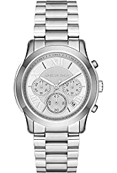 Michael Kors Cooper Chronograph Silver Dial Stainless Steel Ladies Watch Mk6273