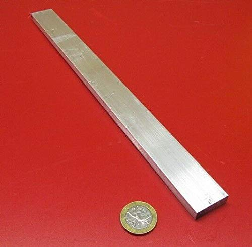 JumpingBolt 6061 T651 Aluminum Bar, 5/16'' (.312'') Thick x 1.0'' Wide x 24'' Length, 2 Units Material May Have Surface Scratches