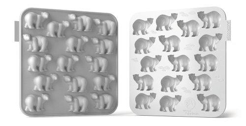 Siliconezone SZ11OM-11670AA Polar Bear Chocolate Mold, White ()