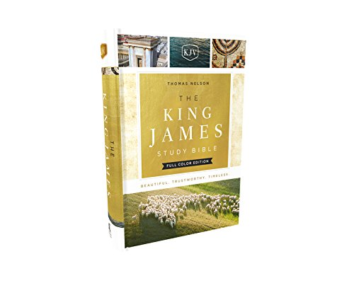KJV, The King James Study Bible, Cloth over Board, Full-Color - Mall County Cross