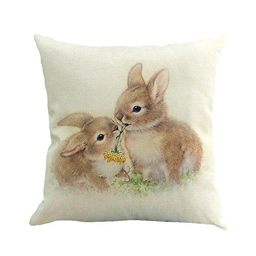 Duseedik Pillow Case, Flax Sofa Pillow Case Bed Home Decoration Festival Cushion -