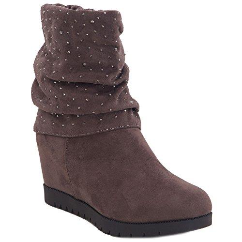 Toocool ,  Damen desert boots Kaki