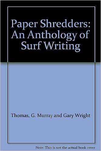 Téléchargement gratuit de livres audio pour iPhone Paper shredders: An anthology of surf writing PDF ePub MOBI