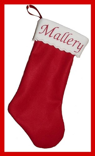 "19"" Personalized Felt Chrismas Stocking"