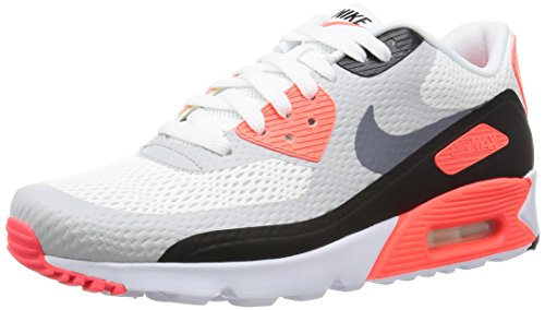Nike Air Max 90 Infrared (Nike Men's Air Max 90 Ultra Essential, WHITE/COOL GREY-INFRARED-BLACK, 6.5 M US)