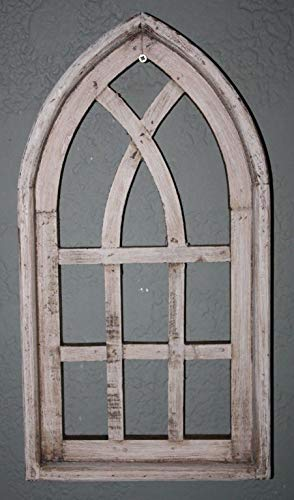 Antique Wood Doll (was Manufactured to Look Antique Wooden Antique Style Church Window Frame Primitive Wood Gothic 18 3/4'' Shabby Inspiration for A Project)