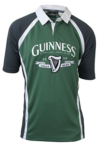 Guinness  Ireland Rugby Jersey,Green/White,Large
