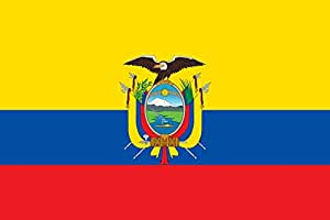 "Ecuador 12 ""x18"" Single Sided bandera de poliéster"