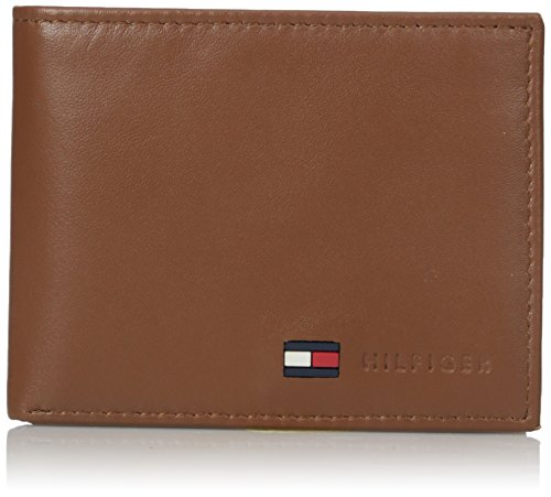 Tommy Hilfiger Men's Leather Passcase Wallet,Tan ()