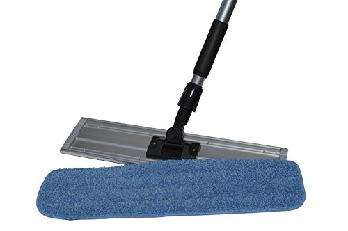 Nine Forty Microfiber Wet Dry Dust Mop Head for Hardwood Floor Set | Handle | 24 Inch Flat Pad Broom