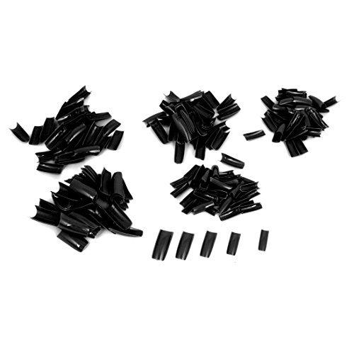 Amazon.com: Plástico bricolaje uñas postizas de la etiqueta del arte pegatinas Consejo Decoración 250 piezas Negro: Health & Personal Care