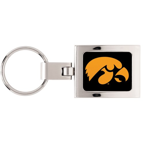 NCAA 36498071 University of Iowa Premium Domed Key Ring by WinCraft