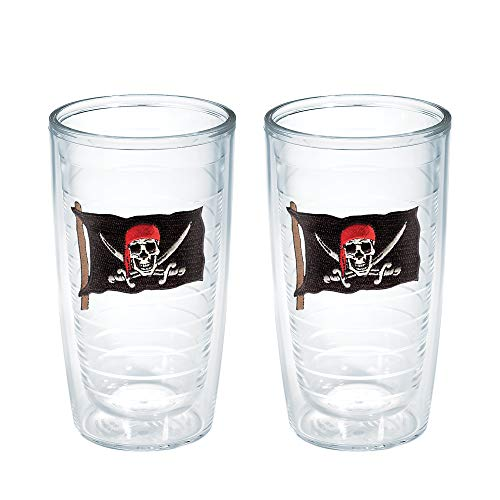 Tervis Tumbler, 16-Ounce, Pirate Flag with Swords, 2-Pack -