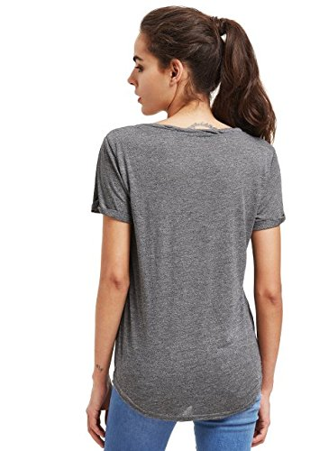 MakeMeChic Women's Basic T-Shirt Short Sleeve Pocket Casual Loose Summer Tops