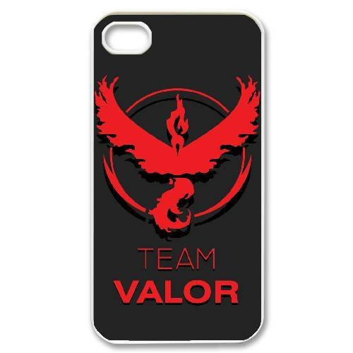 Team Valor Logo Hard Plastic Snap-On Case Skin Cover For iPhone 4 4S White Phone Case LPB1196