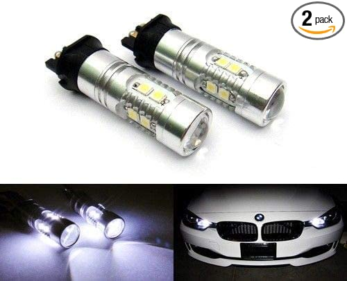 304c0ac19265 GFJMC 2 Pieces of Xenon White Error Free PW24W LED Replacement Bulbs For BMW  F30 3-Series 320i 328i 335i Volkswagen MK7 Golf GTi For Daytime Running  Lights