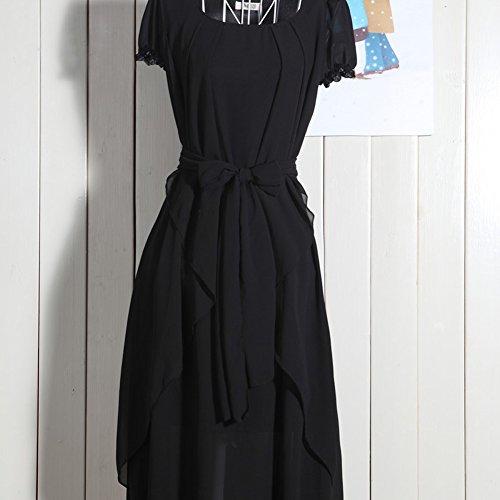 Robe Sexy Noir en Soire Robe de Femme Robe Plage de Soie Hrph Mousseline Summer Long de qF8gEn