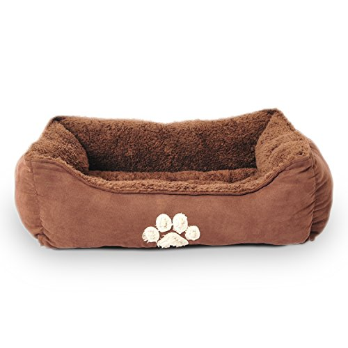 - Sofantex Pet Bed - Fit Medium Sized Dog / Fat Cat, Machine Washable, Ultra Soft Pet Sofa - Dark Coffee