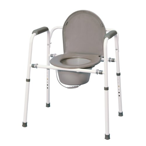 MedPro Homecare Commode Chair with Adjustable -